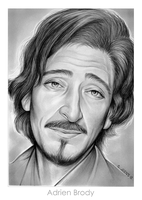 Adrien Brody by gregchapin