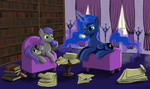 Coffee with Princess Luna by chari-san