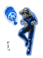 Blue Lantern Luffy by GarthTheDestroyer
