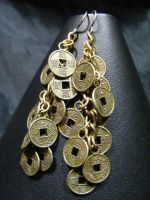 coin earrings by BacktoEarthCreations