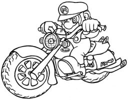Mario motorcycle by anti-tanX