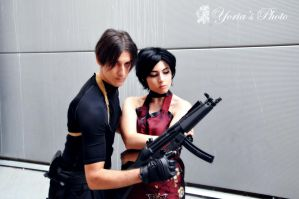 Leon Kennedy and Ada Wong RE4 by PrincessRiN0a