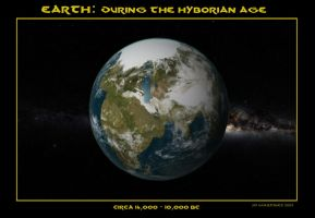 Earth During the Hyborian Age by dragonpyper