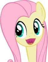 Fluttershy happy face by MrDouche89