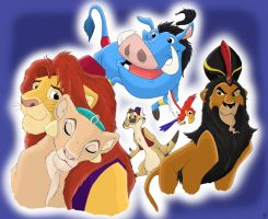 The Lion King.Aladdin by gillian-r