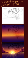 Waterdragon In Sunset Process by Mearow