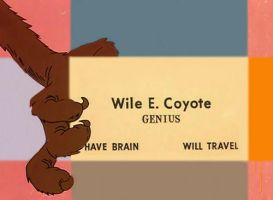 Wile E Coyote card by Bjnix248
