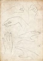 Hands-drawing practice p2 by acherry666