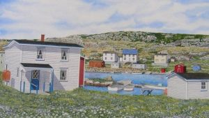 newfoundland art watercolor by kenpower