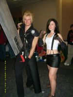 Cloud and Tifa by Tephny