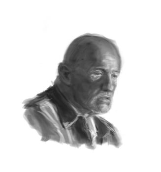 Dying Mike from Breaking Bad by duwr