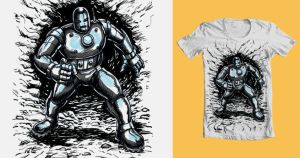 Iron Man Threadless byJohnnyGolden1 by Mortal-Mirror