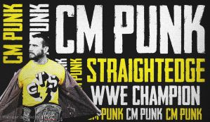 CM Punk StraightEdge WWE Wallpaper by TheElectrifyingOneHD