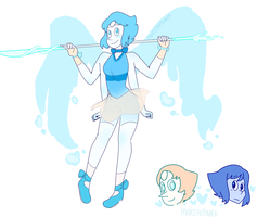 Pearl And Lapis Fusion  by Marstarpower