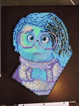 Sadness Perler Sprite [Inside Out] by IrishPerlerPixels