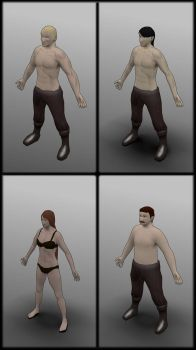 Lowpoly characters by contmike
