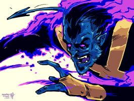 Nightcrawler sketch! by TheWoodenKing