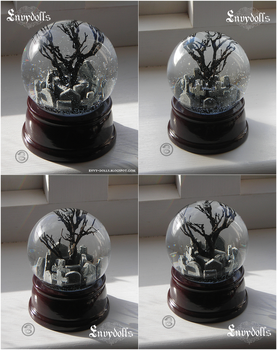 : the crow snowglobe : by BastardPrince