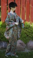 BJD kimono, Ivu playing in Stone Garden by InarisansCrafts