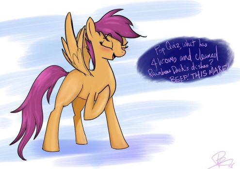 Scootaloo the bragart by peperoger