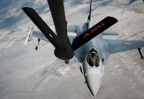 F-16 Inflight Refueling by jdmimages