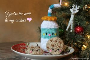You're the milk to my cookies by Amigurumifood