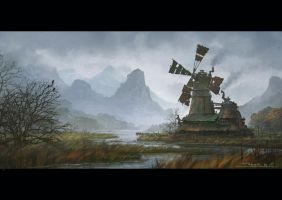 Steam Windmill by draken4o