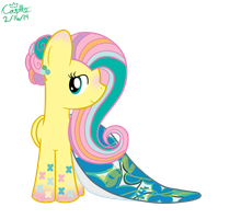 Rainbow Power Fluttershy's Prom Dress by mtfc1029