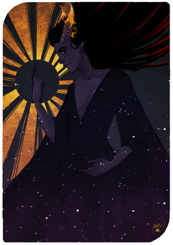 Commission : Tarot Card (Tiefling) by AlexielApril