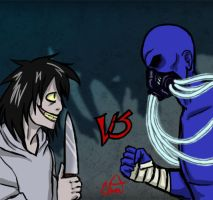 Jeff the Killer vs Mr.Creepypasta by ControlledChaotic