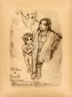 Ethras and Mevielle by KabaMaroudis