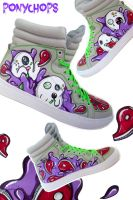 Xbox Inspired Hi Top Trainers by ponychops