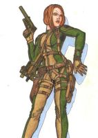 GI Joe Scarlett Color by Lazy-Doodler