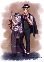 Mirajane and Laxus- Mafia by AlmightyHighElf