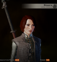 Inquisitor Rinaera Trevelyan by FireRose333