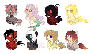 Foal Adopts - OPEN 2/8 by Tea-Adoptables