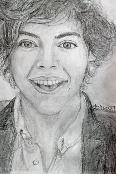 Harry Styles - One Direction (: by val1drawing