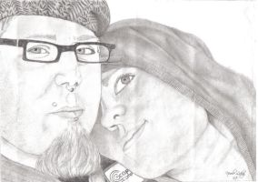 Drawing Of My Boyfriend and I by Leehi