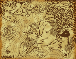 Anduris World Map by mindflenzing