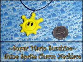 Super Mario Sunshine - Shine Sprite Charm Necklace by YellerCrakka