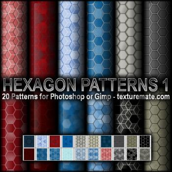 Hexagon Patterns 1 by AscendedArts