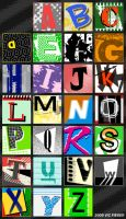 New Wave Alphabet by vicfieger