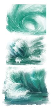 Wave practice by Elsouille
