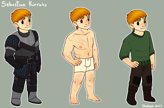 Sebastian - Armor and Clothing by Sketchyeh