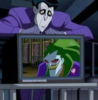 Joker watches Joker by jokerharleyrock34