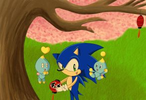 Sonic and Chao by Lucky-Sonic-77-d