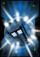 Tardis in Motion by jlfletch