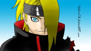 Deidara line art colored by SabakunoPA