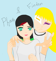 Phara-Chan and Findor by KrisshysBlackROSE