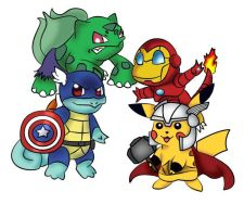 Pokemon Avengers by a-n0nymouz